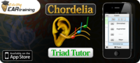 Chordelia Triad Tutor ear training app