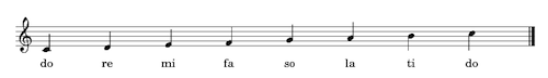 The Solfège 'Do' Major Scale